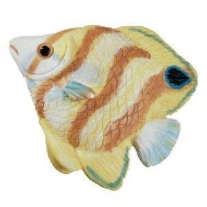 Siro Designs Yellow & Orange Stripe Fish Knob