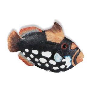 Siro Designs Black & White Speckle Fish Knob