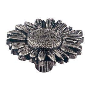 Siro Designs Antique Silver Daisy Knob