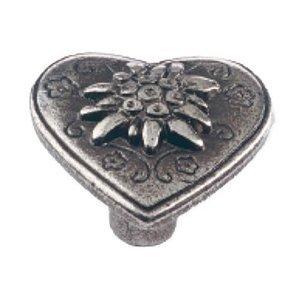 Siro Designs Antique Silver Heart Knob