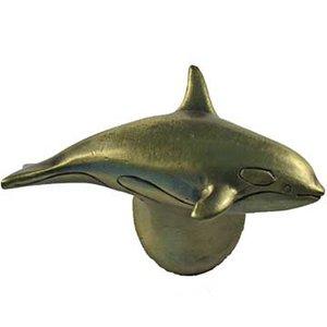 Sierra Lifestyles Orca Knob Left in Antique Brass