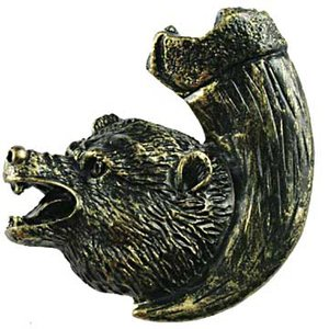 Sierra Lifestyles Bear with Claw Knob Right in Bronzed Black