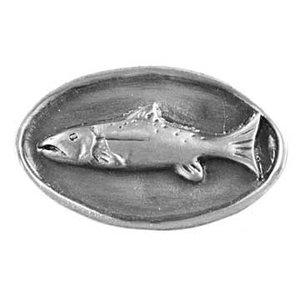 Sierra Lifestyles Decorative Cabinet Hardware Knobs And Pulls   Sportsman  Design Fish Mount Knob In Pewter