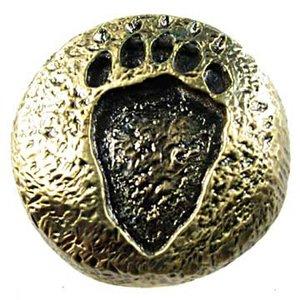 Sierra Lifestyles Bear Track Knob in Antique Brass