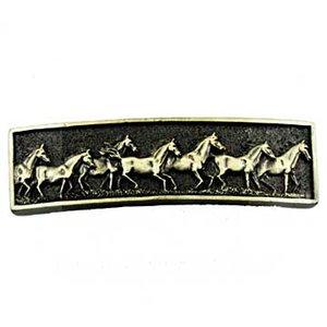 Sierra Lifestyles Running Horse Pull in Antique Brass