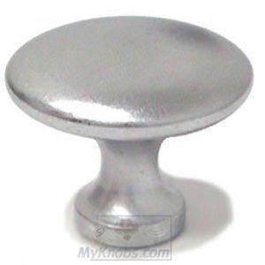 "SMEDBO Knobs 1 1/2"" Plain Round Knob in Brushed Chrome"