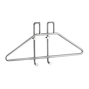 SMEDBO Sideline Shower Baskets Collection - Wall-Mounted Robe Valet Hanger System in Polished Chrome