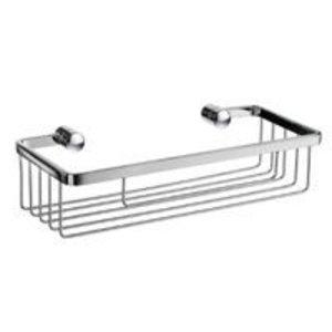 """Smedbo Bath Accessories Sideline Design Soap Basket 10"""" in Polished Chrome"""