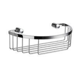 "Smedbo Bath Accessories Sideline Design Cresent Basket 9"" in Polished Chrome"