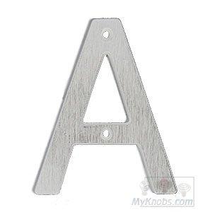 "SMEDBO Villa Letter ""A"" in Brushed Chrome"