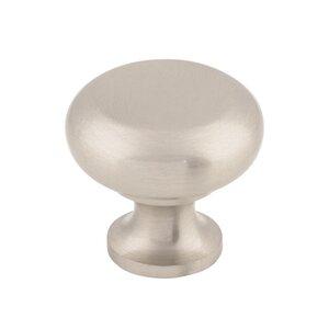"Top Knobs Flat Faced Round Knob 1 1/4"" - Brushed Satin Nickel"