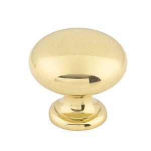 """Top Knobs Round Knob 1 1/4"""" - Polished Brass"""