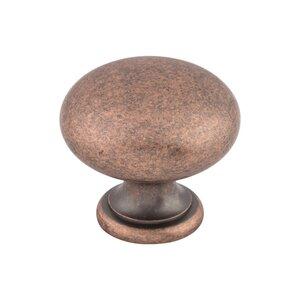 "Top Knobs Round Knob 1 1/4"" - Antique Copper"