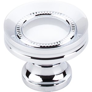 """Top Knobs Button Faced Knob 1 1/4"""" - Polished Chrome"""