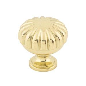 """Top Knobs Melon Cut Knob 1 1/4"""" - Polished Brass"""