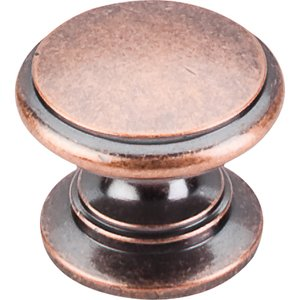 """Top Knobs Ray Knob 1 1/4"""" - Antique Copper"""
