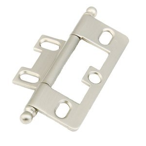 Schaub and Company Ball Tip Hinge in Satin Nickel