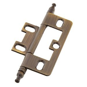 Schaub and Company Minaret Tip Hinge in Antique Brass