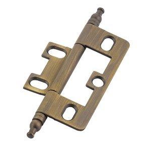 Schaub and Company Minaret Tip Hinge in Antique Light Brass