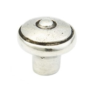 "Schaub and Company 1 3/8"" Round Knob in Natural Britannium"