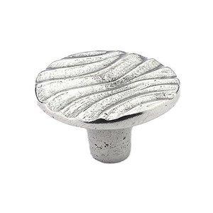 "Schaub and Company 1 1/4"" Round Knob in Natural Britannium"