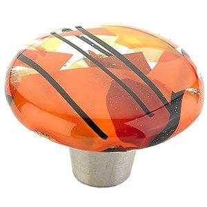 """Schaub and Company 1 1/2"""" Diameter  Round Knob in Confetti Orange"""