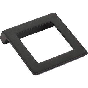 "Schaub and Company 1 1/4"" Centers Angled Square Pull in Matte Black"