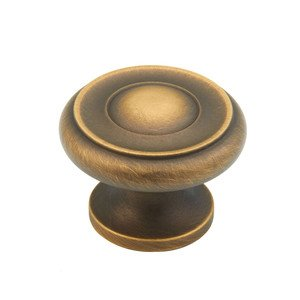 "Schaub Select 1 1/4"" Knob in Antique Light Brass"