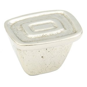 "Schaub and Company 1 1/4"" x 1"" Double Rectangles Knob in Polished White Bronze"