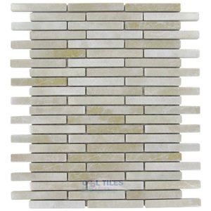 "Stellar Tile 1/2"" x 3"" Porcelain Mosaic Tile in Perla Bone"