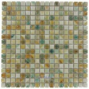 "Stellar Tile 9/16"" x 9/16"" Porcelain Mosaic Tile in Spring Field"