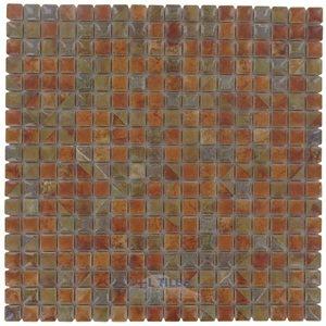 "Stellar Tile 9/16"" x 9/16"" Porcelain Mosaic Tile in Tundra Beige"