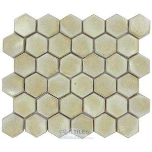 "Stellar Tile 2"" Hexagon Ceramic Mosaic Tile in Polar"