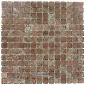 "Stellar Tile 3/4"" x 3/4"" Glass Mosaic Tile in Tan Gold"