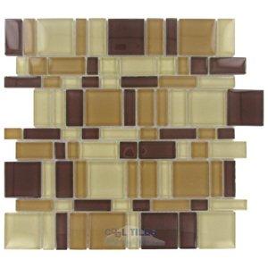 Stellar Tile Glass Mosaic Tile in Suede