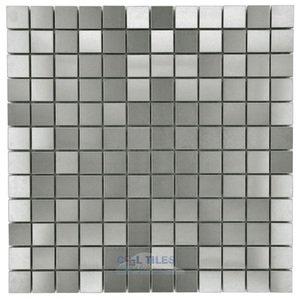 "Stellar Tile 1"" x 1"" Mosaic Tile in Stainless Steel"