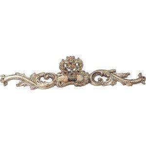 "Schaub and Company 7 3/8"" Solid Brass Escutcheon with Faux Key in Monticello Silver"