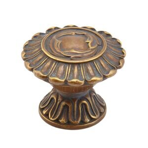 "Schaub and Company Solid Brass 1 1/4"" Knob In Monticello Brass"