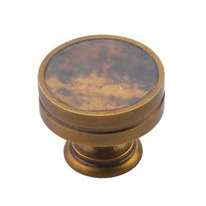 """Schaub and Company 1 3/8"""" Diameter Knob in Estate Dover with Penshell"""