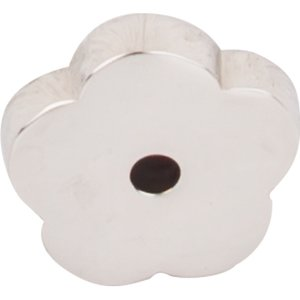 "Top Knobs 1"" Flower Backplate in Polished Nickel"