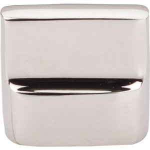 """Top Knobs 7/8"""" Flat Sided Pull in Polished Nickel"""