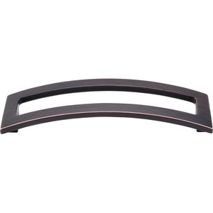"""Top Knobs 5"""" Centers Euro Open Arched Pull in Tuscan Bronze"""