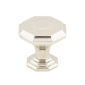 "Top Knobs 1 1/4"" Diameter Chalet Knob in Polished Nickel"