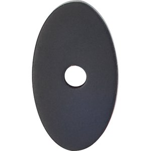 Top Knobs Small Oval Backplate in Flat Black