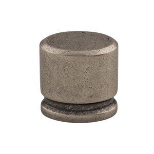 "Top Knobs 1 1/8"" Medium Oval Knob in Pewter Antique"