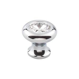 "Top Knobs - Serene 1 3/16"" (30mm) Crystal Knob In Polished Chrome"
