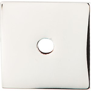 """Top Knobs 1"""" Square Knob Backplate in Polished Nickel"""