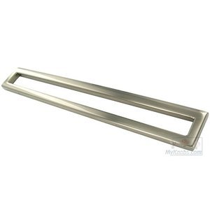 Topex Cabinet Knobs Bent Rectangular Pull 192mm or 224mm in Satin Nickel