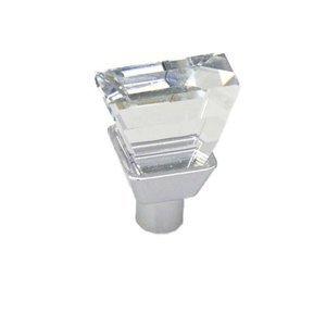 "Topex Cabinet Knobs 3/4"" x 1/2"" Rectangular Swarovski Crystal Knob in Bright Chrome"