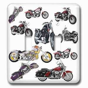 Jazzy Wallplates Double Toggle Wallplate With Harley-Davidson® Motorcycles